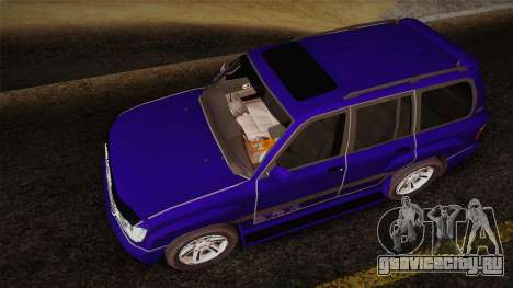 Toyota Land Cruiser 100VX для GTA San Andreas вид сзади
