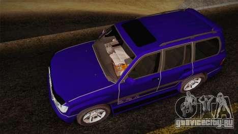 Toyota Land Cruiser 100VX для GTA San Andreas вид сзади