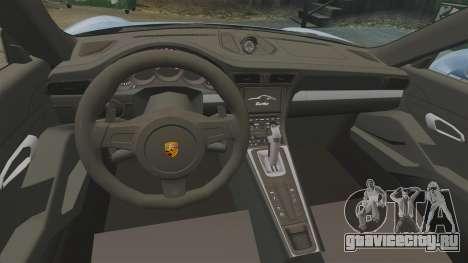 Porsche 911 Turbo 2014 [EPM] KW iSuspension для GTA 4 вид изнутри