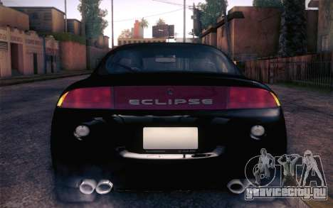 Mitsubishi Eclipse Fast and Furious для GTA San Andreas вид сзади