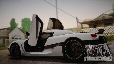 Koenigsegg Agera для GTA San Andreas вид слева
