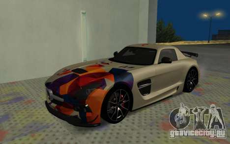 Mercedes-Benz SLS AMG 2013 Black Series для GTA San Andreas вид сбоку