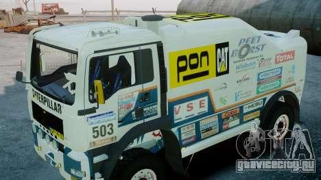 MAN TGA GINAF Dakar Race Truck для GTA 4 вид справа