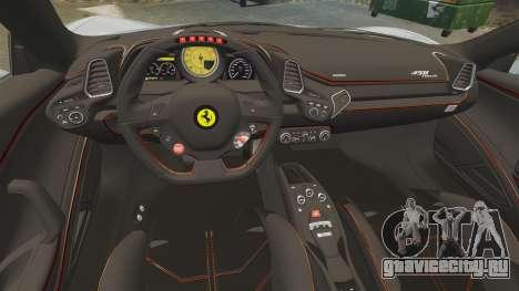 Ferrari 458 Italia 2009 для GTA 4 вид сбоку
