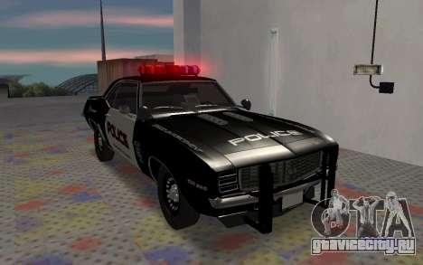 Chevrolet Camaro SS Police для GTA San Andreas вид слева