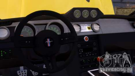 Shelby Terlingua Mustang для GTA 4 вид снизу