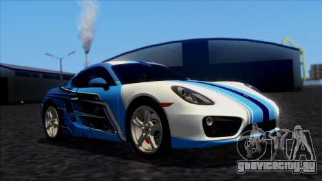 Porsche Cayman S 2014 для GTA San Andreas вид сзади