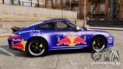 Porsche 911 Sport Classic 2010 Red Bull для GTA 4 вид слева