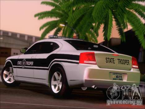 Dodge Charger San Andreas State Trooper для GTA San Andreas вид справа