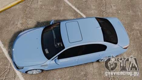 BMW M5 2009 для GTA 4 вид справа