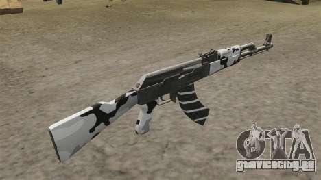 Автомат AK-47 зимний для GTA 4 второй скриншот