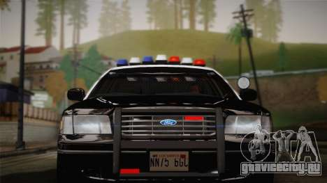 Ford Crown Victoria 2005 Police для GTA San Andreas вид сзади