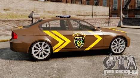 BMW 350i Indonesia Police v2 [ELS] для GTA 4 вид слева