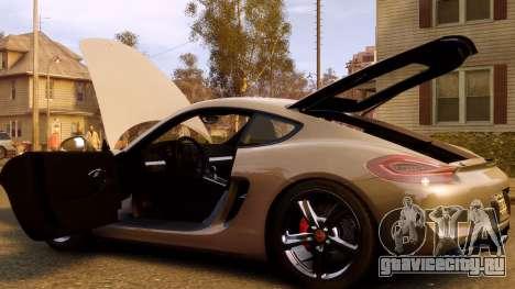 Porsche Cayman 981 S v2.0 для GTA 4 вид снизу