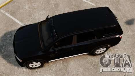 Dodge Durango 2013 Sheriff [ELS] для GTA 4 вид справа