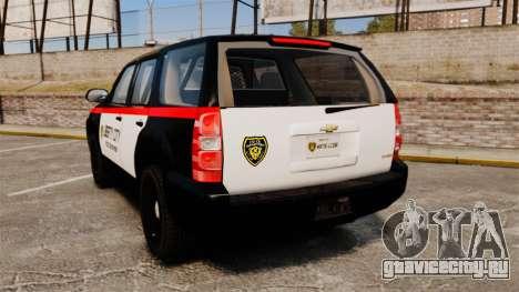 Chevrolet Tahoe 2008 LCPD STL-K Force [ELS] для GTA 4 вид сзади слева
