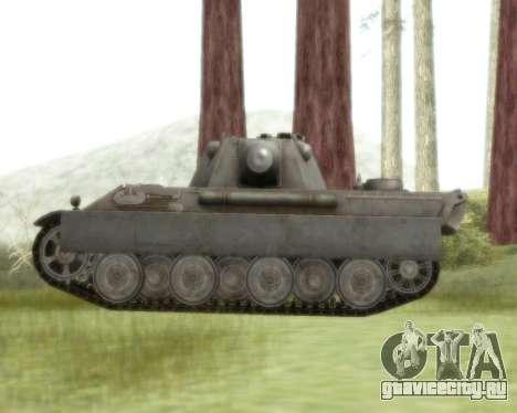 Pzkpfw V Panther II для GTA San Andreas вид сзади слева