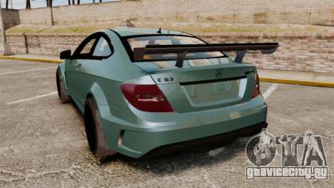 Mercedes-Benz C63 AMG для GTA 4 вид сзади слева