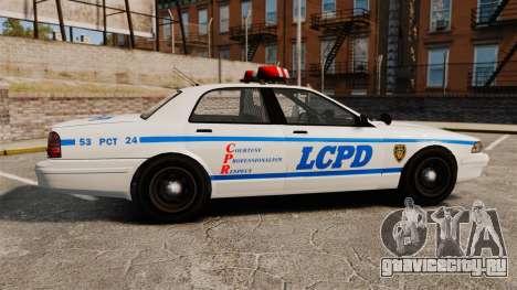 GTA V Police Vapid Cruiser LCPD для GTA 4 вид слева