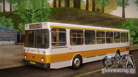 ЛиАЗ 5256.00 Скин-пак 2 для GTA San Andreas вид изнутри