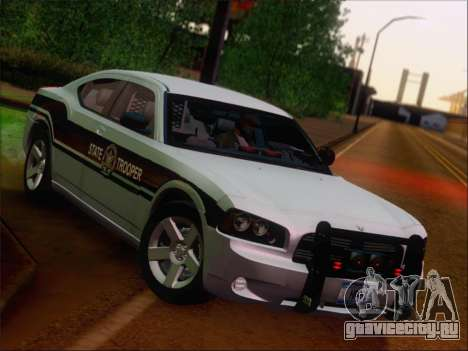 Dodge Charger San Andreas State Trooper для GTA San Andreas вид сверху