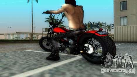 Harley Davidson Shovelhead для GTA Vice City вид сзади