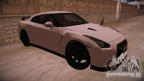 Nissan GT-R SpecV Ultimate Edition для GTA San Andreas вид сзади слева