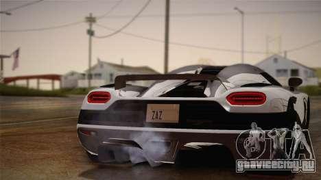Koenigsegg Agera для GTA San Andreas вид справа