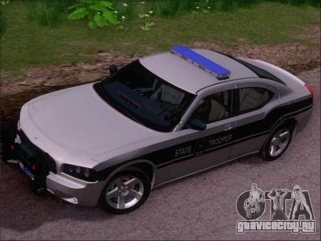 Dodge Charger San Andreas State Trooper для GTA San Andreas вид сбоку