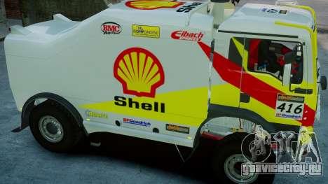 MAN TGA Dakar Truck Shell для GTA 4 вид справа