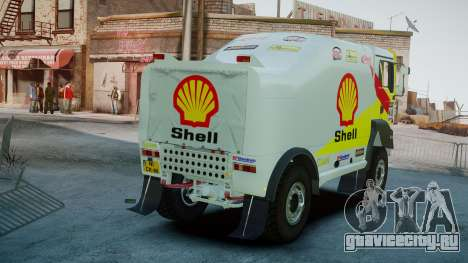MAN TGA Dakar Truck Shell для GTA 4 вид сзади слева