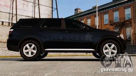 Dodge Durango 2013 Sheriff [ELS] для GTA 4 вид слева