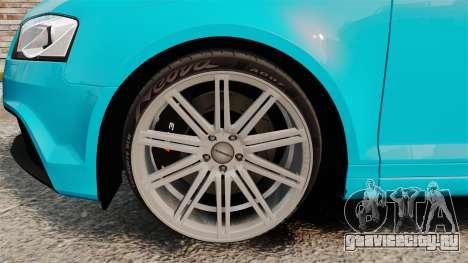 Audi RS3 Sportback [Typ 8PA] 2011 для GTA 4 вид сзади