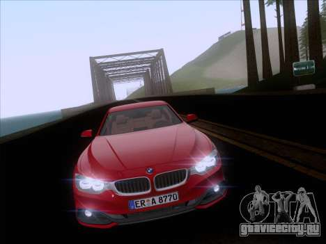BMW F32 4 series Coupe 2014 для GTA San Andreas вид изнутри