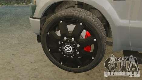 Ford F-350 Pitbull v2.0 для GTA 4 вид изнутри