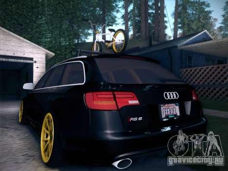 Audi Avant RS6 LowStance для GTA San Andreas салон