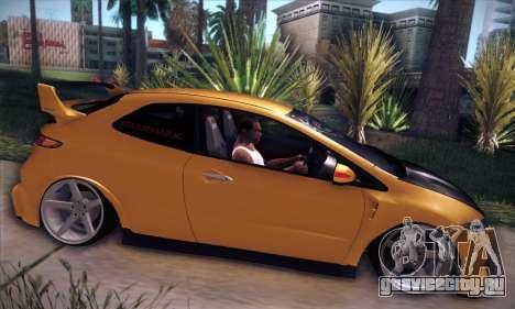 Honda Civic Type R Mugen для GTA San Andreas вид изнутри