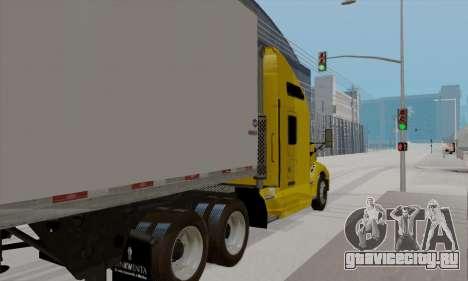 Kenworth T660 2011 для GTA San Andreas вид сзади слева