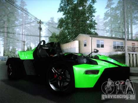 KTM Xbow R для GTA San Andreas вид изнутри
