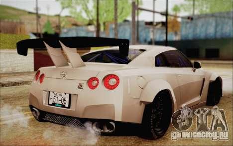 Nissan GT-R Liberty Walk для GTA San Andreas вид слева