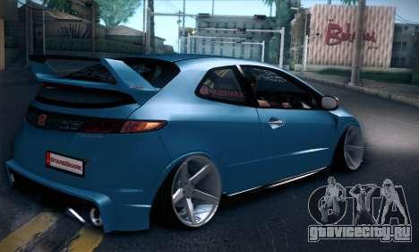 Honda Civic Type R Mugen для GTA San Andreas вид справа