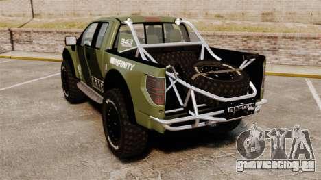 Ford F150 SVT 2011 Raptor Baja [EPM] для GTA 4 вид сзади слева