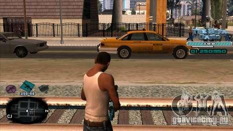 C-HUD Rifa Gang для GTA San Andreas второй скриншот