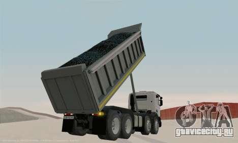Scania P420 для GTA San Andreas вид изнутри