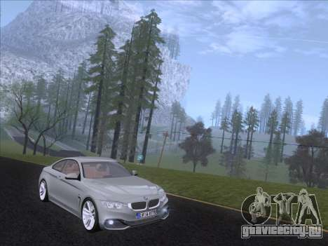 BMW F32 4 series Coupe 2014 для GTA San Andreas вид слева