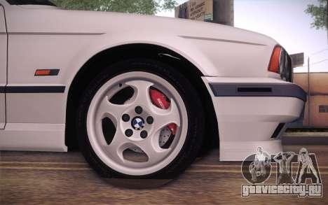 BMW E34 Alpina для GTA San Andreas вид сзади слева