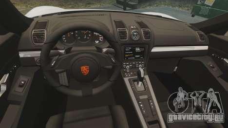 Porsche Cayman S 981C для GTA 4 вид изнутри