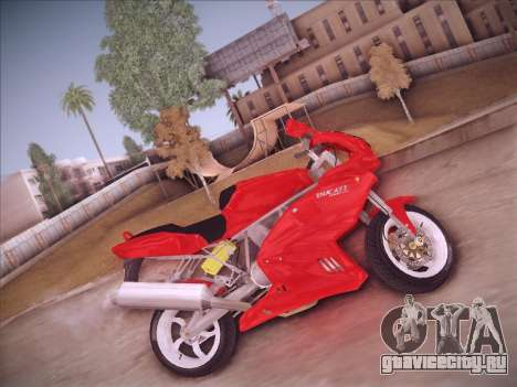 Ducati Supersport 1000 DS для GTA San Andreas вид сзади слева