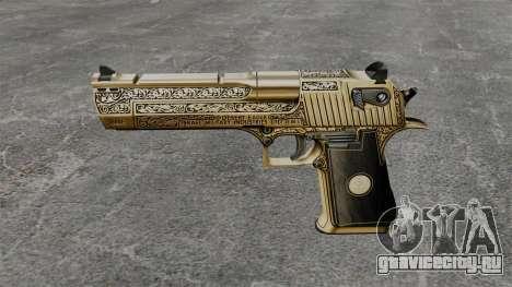 Роскошный пистолет Desert Eagle для GTA 4 третий скриншот