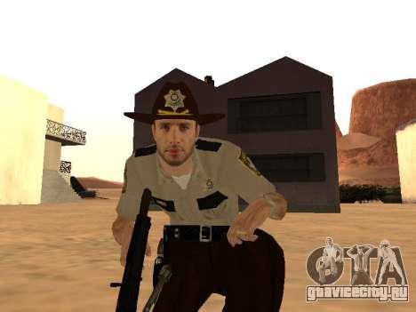 Rick Grimes для GTA San Andreas четвёртый скриншот